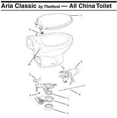 Thetford Toilet Blade Seal 19833