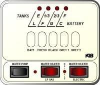 KIB Electronics Monitor Panel Model M25-2-3HWL Repair / Installation Kits
