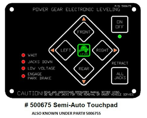 Power Gear Electronic Leveling Touch Pad Kit 500675S