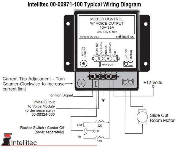 Intellitec Slide Out Room Controller 00 00971 100