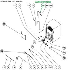 Norcold Refrigerator 12V 140 Watt Heat Element 61745422