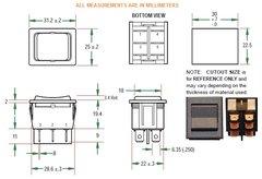 KIB Electronics Generator Start / Stop Switch, 201S-15