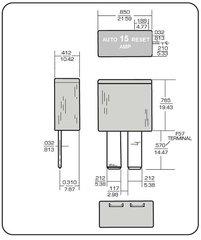 Power Gear 15 Amp Circuit Breaker, 14-1090