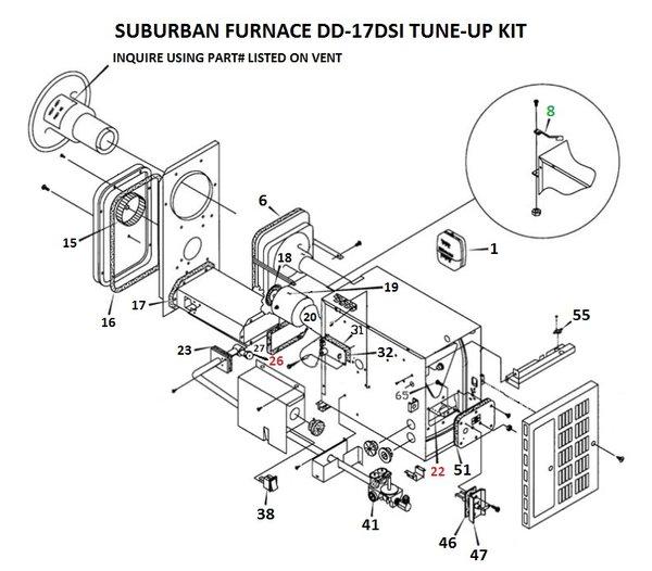 lennox furnace parts diagram suburban furnace model dd-17dsi parts | pdxrvwholesale suburban furnace parts diagram
