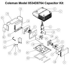 Coleman Heat Pump Model 8534D8764 Capacitor Kit