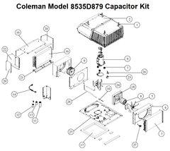 Coleman Heat Pump Model 8535D879 Capacitor Kit