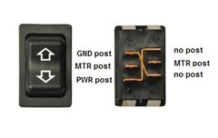 Slide-Out Extend / Retract Switch, Black, 12395-2