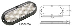 LED Curb Light / Backup Light / Utility Light, 10 LED, L16-0023W