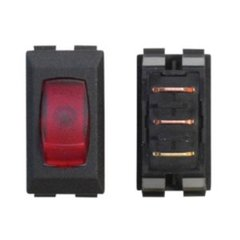 System Heat Power Black Switch / Red Lit