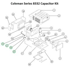 Coleman Air Conditioner Series 8332 Capacitor Kit