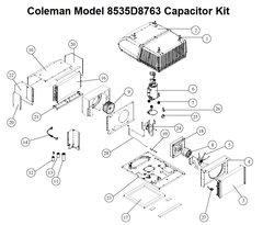 Coleman Heat Pump Model 8535D8763 Capacitor Kit