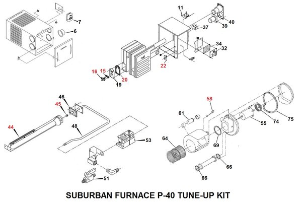 suburban furnace parts diagram atwood rv furnace parts diagram