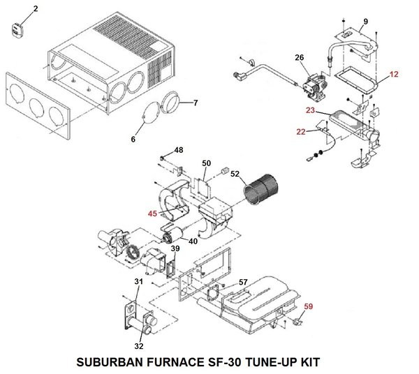 rv gas furnace wiring diagram with Suburban Furnace Model Sf 30 Tune Up Kit on Generac Generator Wiring Diagrams 120 208v likewise Heat Pump Water Heater Wiring Diagram besides Heatsource Heating System  bo Package Natural Gas likewise Suburban Furnace Model Sf 30 Tune Up Kit further Coleman Evcon Parts Diagram.