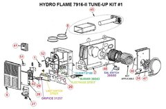 Atwood / HydroFlame Furnace Model 7916-II Tune-Up Kit