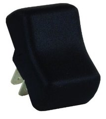 Contour Rocker Switch, SPST, Black, On/Off