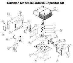 Coleman Heat Pump Model 8535D8796 Capacitor Kit
