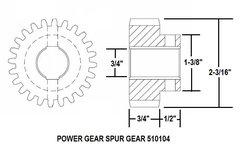 Power Gear Slide Out Gear, 24 Teeth, 510104