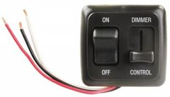 Dimmer On / Off Switch with Bezel, Black, AH-SLD-5-HS01