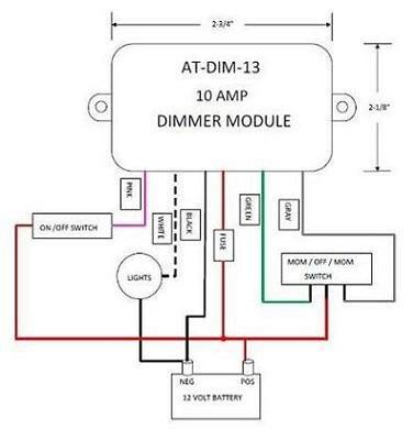 12 volt light dimmer module atdim13