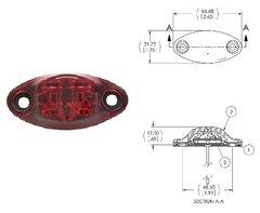 LED Marker Light, Red 2 Diode, L04-0037R