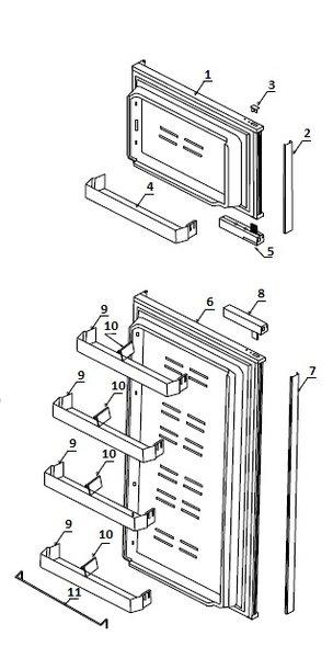 Atwood Refrigerator Door Bin 14018 Pdxrvwholesale
