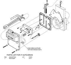 Barker Dump Valve Replacement Rack Gear 24131
