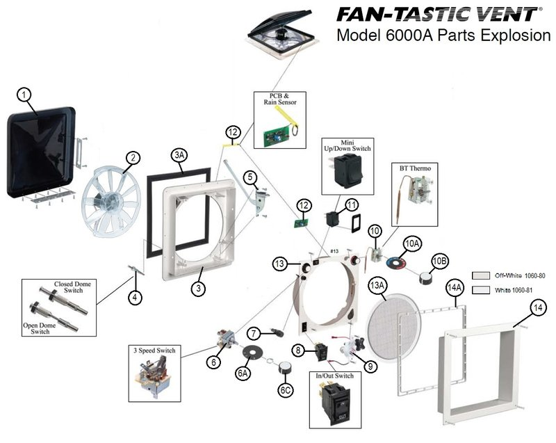 Fan-Tastic Parts Views | pdxrvwholesale on