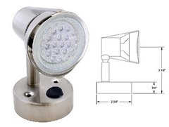 LED Reading Light, 20 LED, Satin Chrome Finish, L26-0067