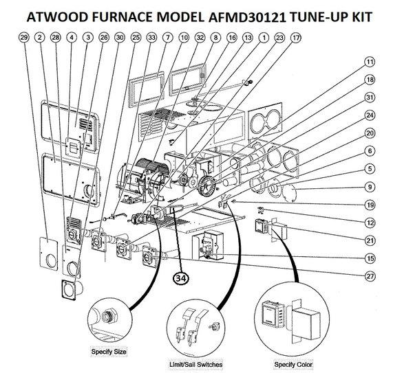 Atwood Furnace Model Afmd30121 Parts Pdxrvwholesale