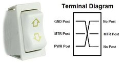 Slide-Out Extend / Retract Switch, White, 12385-2