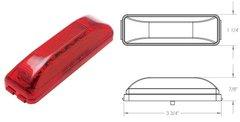 LED Marker Light, Red 12 Diode 1A-V-1240R