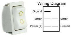 Slide-Out Extend / Retract Switch, White, 12095