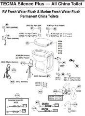 Thetford Toilet Closet Bolt Package Kit 38067