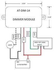 12 Volt Light Dimmer Module, ATDIM14