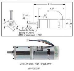In-Wall Motor, High Torque 287298