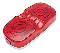 Red Incandescent Double Bullseye Marker / Clearance Light