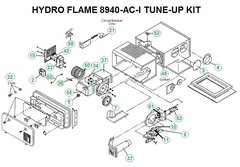Atwood / HydroFlame Furnace Model 8940-AC-I Tune-Up Kit