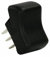 Contour Rocker Switch, SPDT, Black, Mom/Off/Mom
