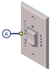 Lippert Slide Out Switch With Wall Plate 140530