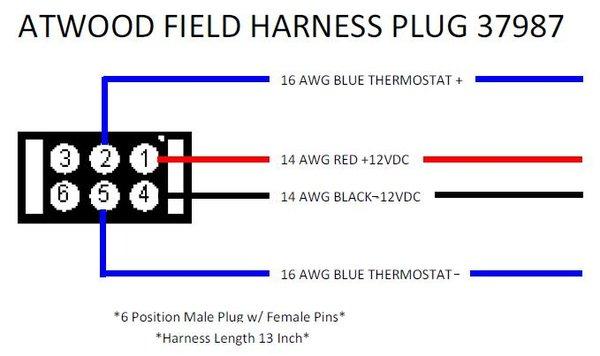 Atwood Furnace Wiring Field Plug 37987
