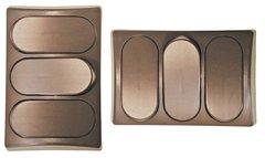 Brown Triple Designer Wall Plate P9318