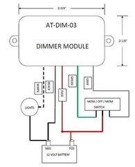 12 Volt Light Dimmer Module, ATDIM03