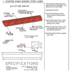 LED Third Brake Light, Flush Mount, AT-LED-36R-02