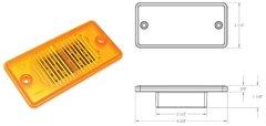 LED Marker Light, Amber 12 Diode, L14-0059A