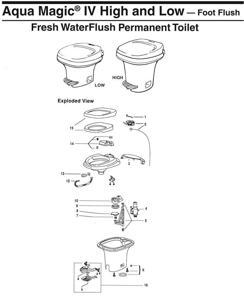 Prime Thetford Aqua Magic Iv Pedal Flush Pdx Rv Wiring Database Denligelartorg