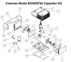 Coleman Heat Pump Model 8534D8794 Capacitor Kit