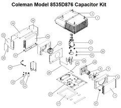 Coleman Heat Pump Model 8535D876 Capacitor Kit