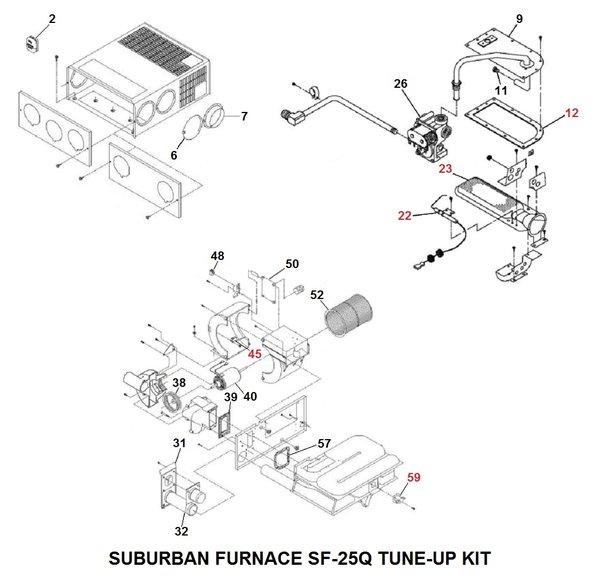 Suburban Furnace Model Sf 25q Tune Up Kit