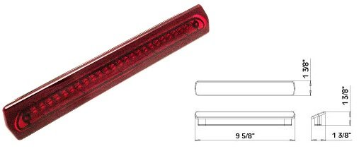 led third brake light flush mount l15 0018 pdxrvwholesale. Black Bedroom Furniture Sets. Home Design Ideas