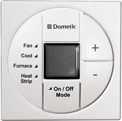 Dometic Single Zone LCD Thermostat, Cool/Furnace/Heat Strip, 3313189.049